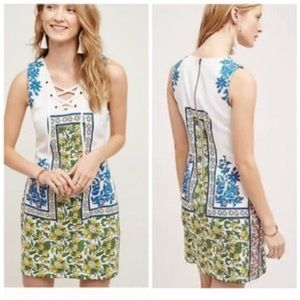 NWT Plenty Tracy Reese Libbey Lace Up Shift Dress